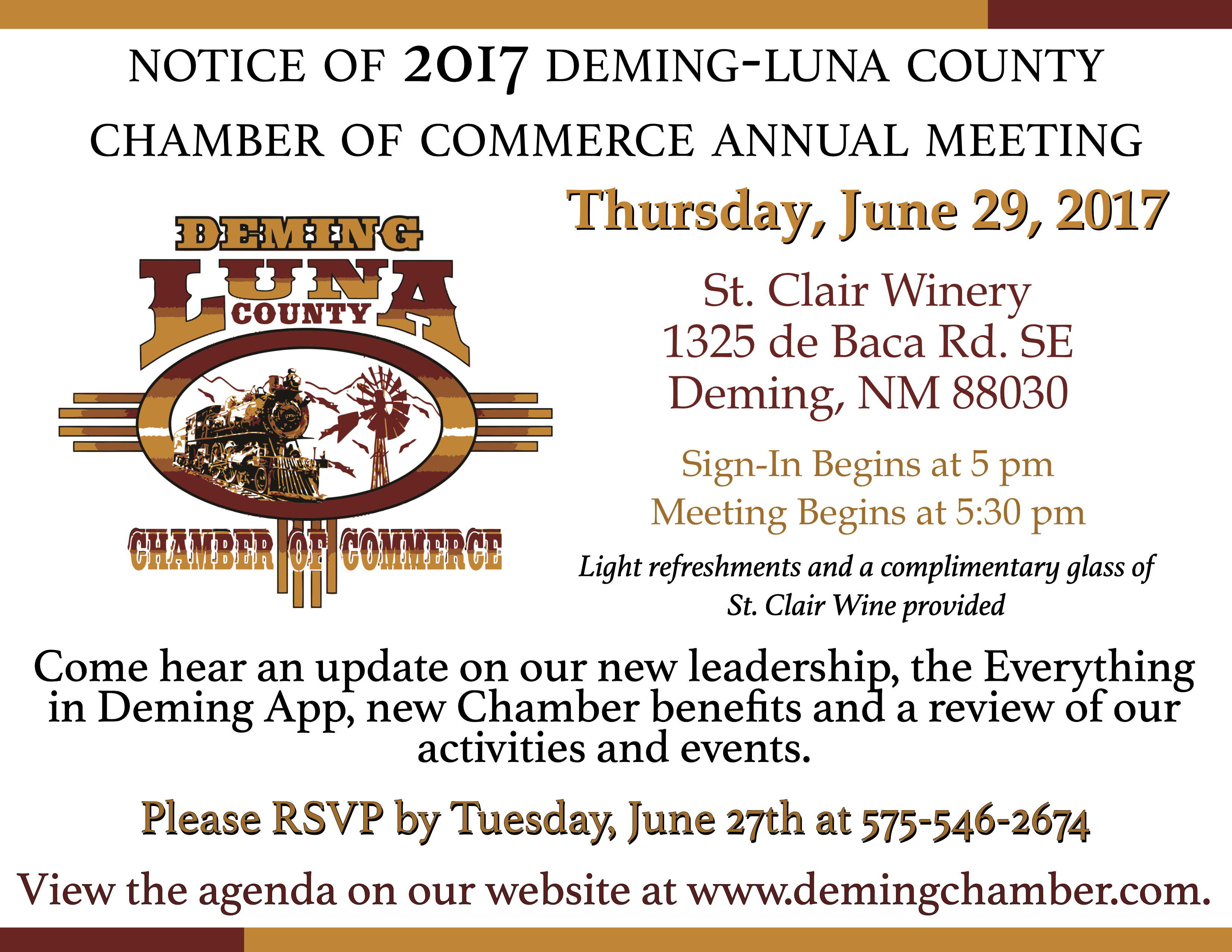New mexico luna county columbus - The Deming Luna County Chamber Of Commerce Annual Meeting Is Coming
