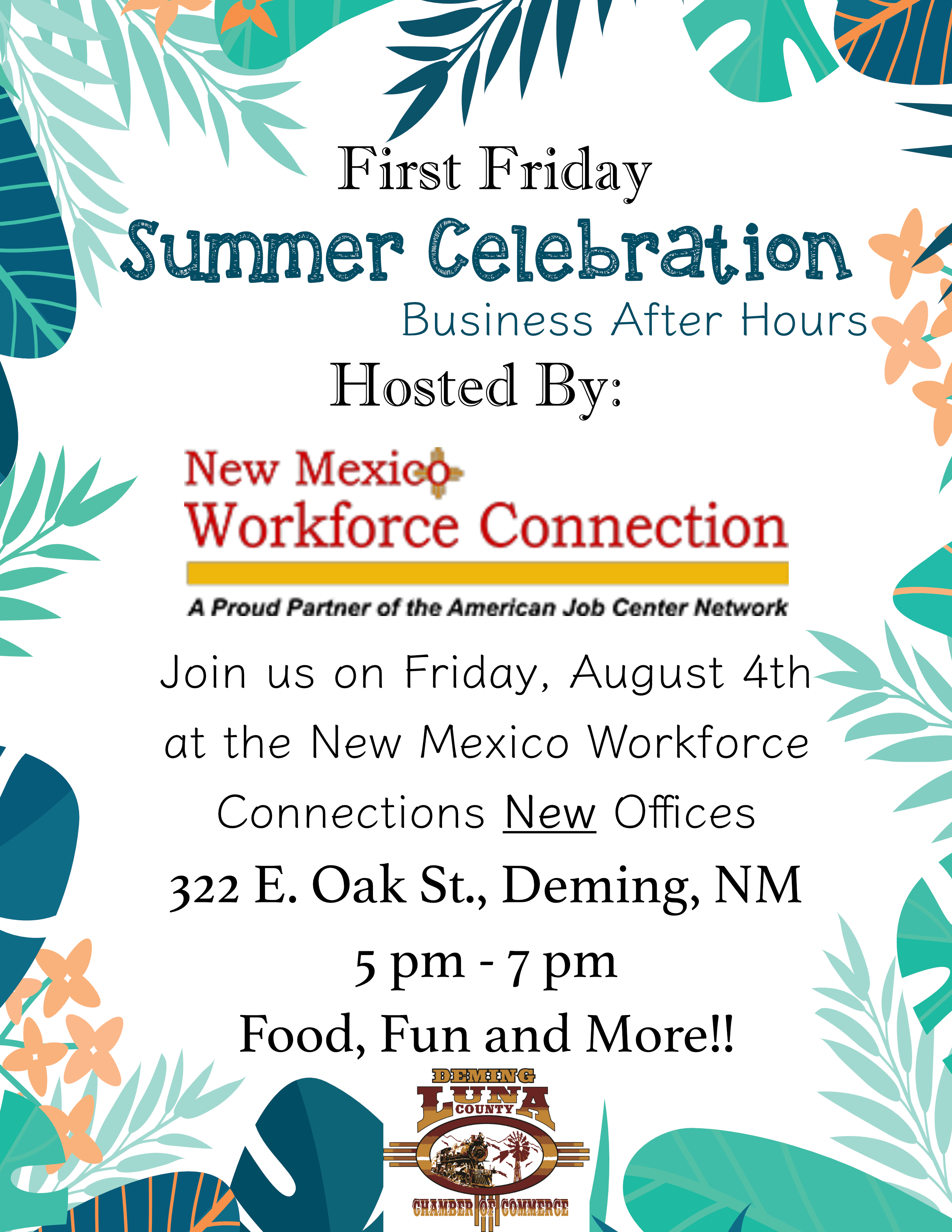 New mexico luna county columbus - Join Us For Our First Friday Celebration At New Mexico Workforce Solutions